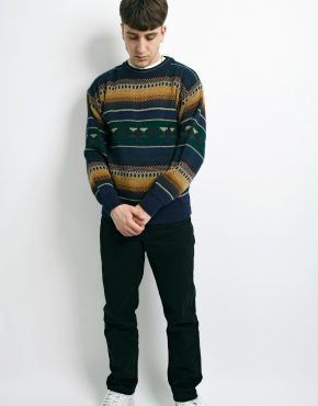 vintage sweater mens multi
