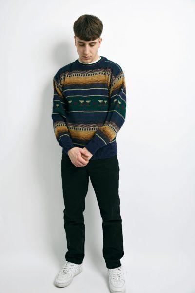 vintage sweater mens multi