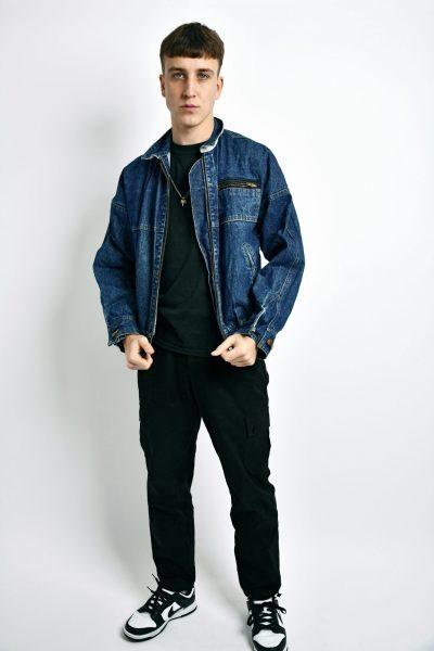 denim jacket dark blue
