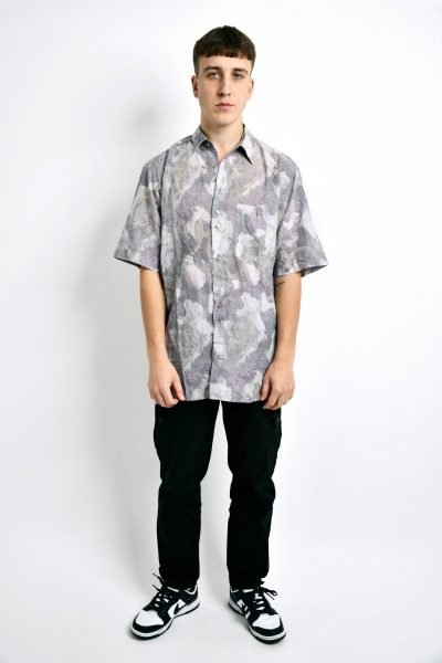 90s pattern pastel shirt