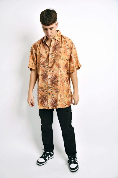 Abstract 80s shirt orange