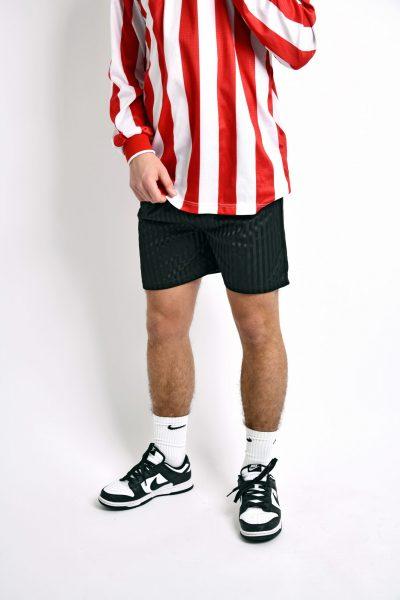 Vintage black shorts striped