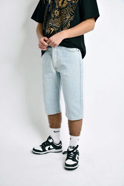 90s denim capri shorts