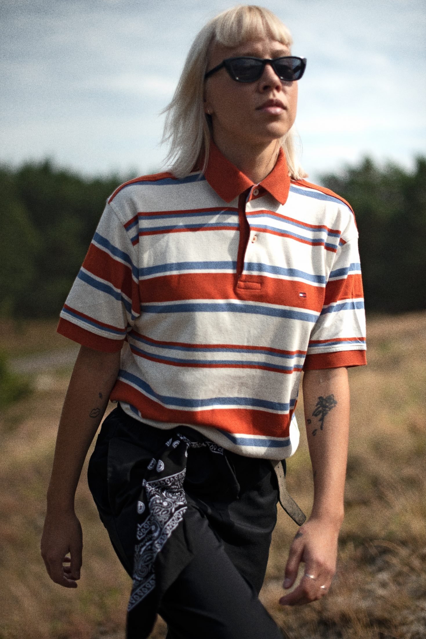Vintage Tommy Hilfiger polo shirt in stripes