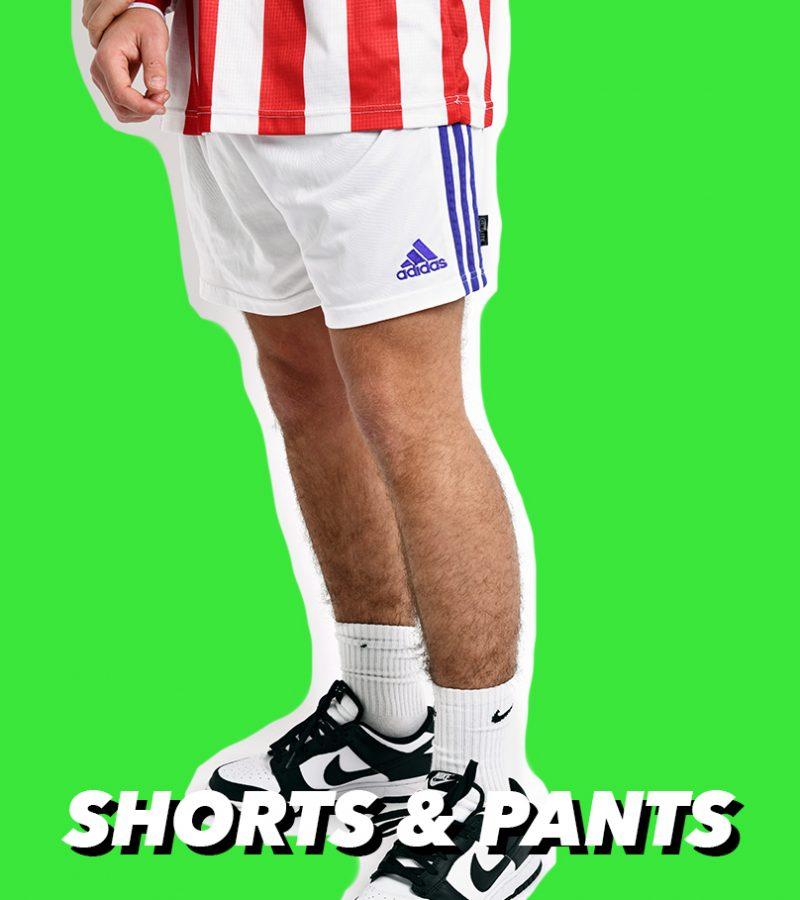 FOOTBALL SHORTS AND TRACK PANTS