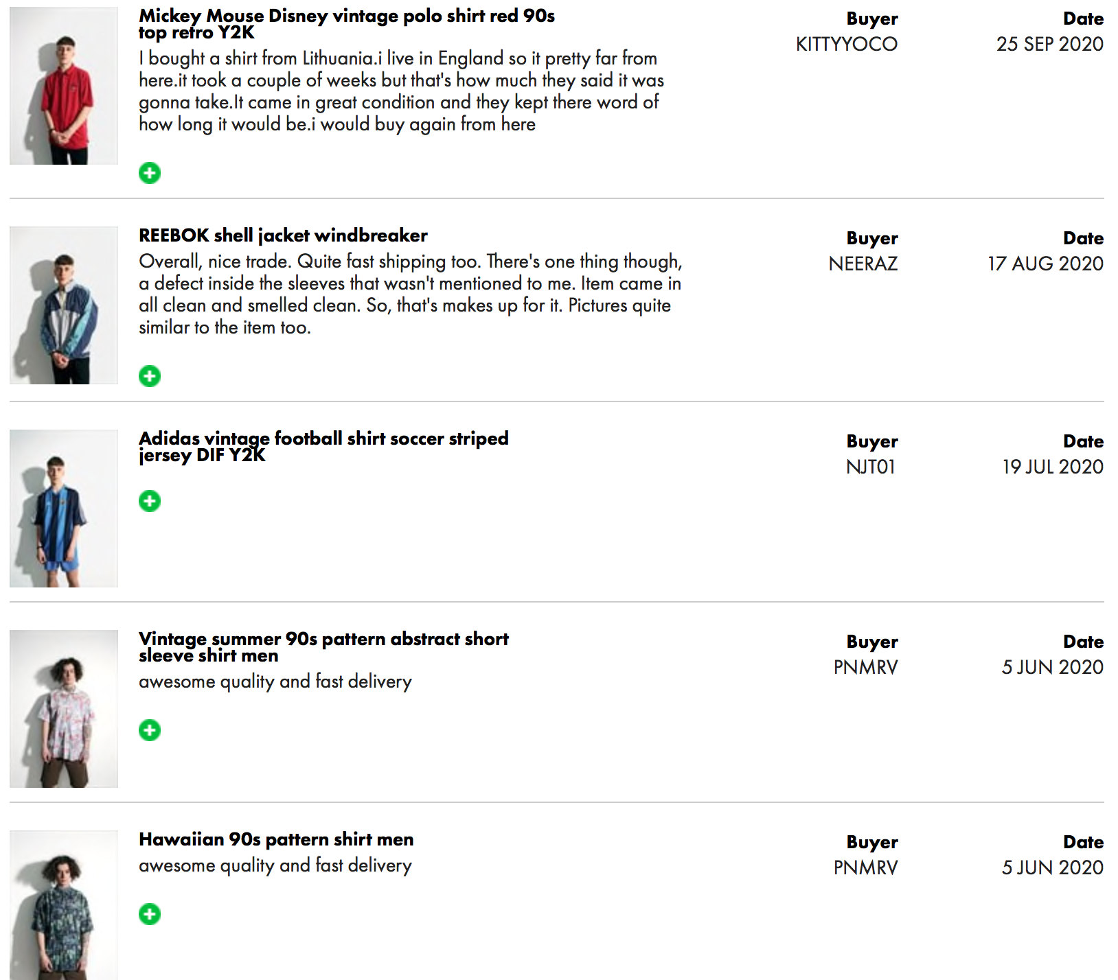 REVIEWS - TRUSTED SELLER ON ASOS MARKETPLACE
