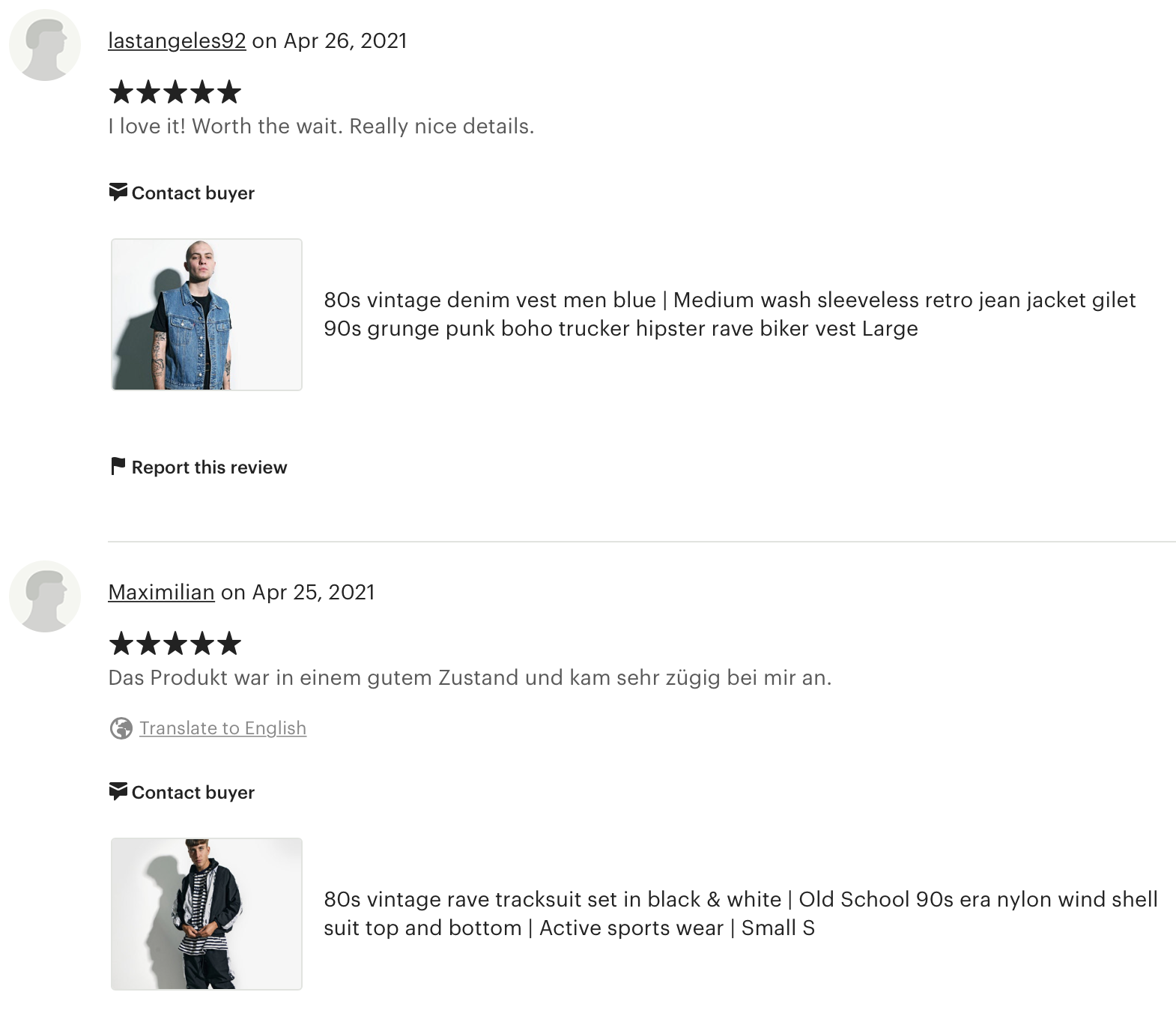 REVIEWS - TRUSTED SELLER ON ETSY