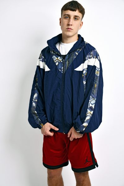 80s blue vintage jacket