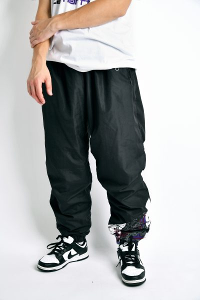 80s shell pants black