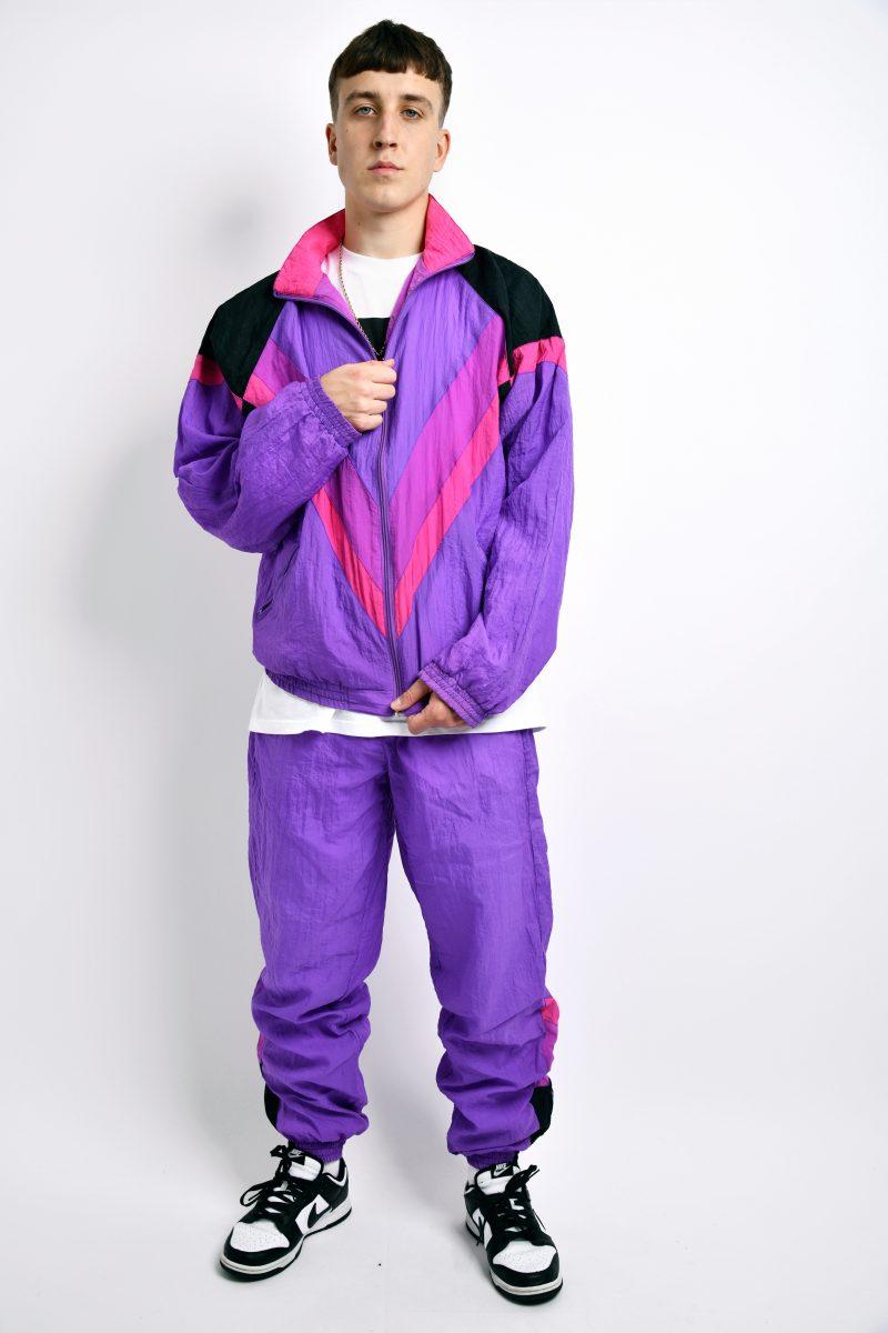 90s purple tracksuit set