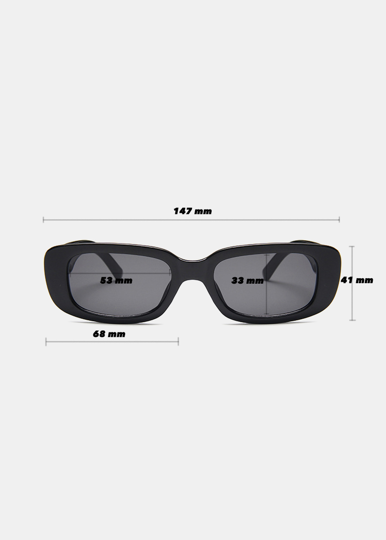 Rectangle sunglasses measurements