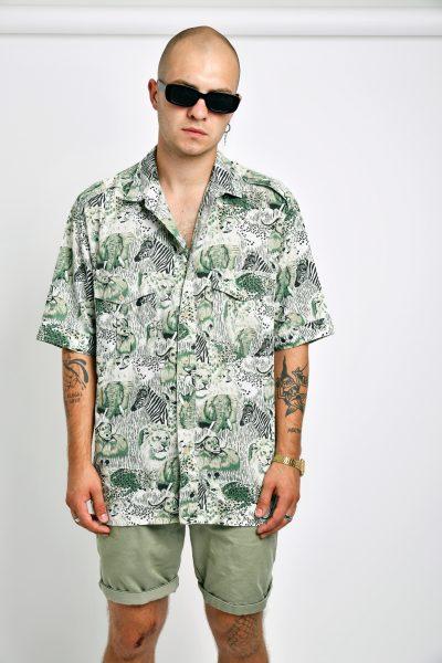 Vintage animal print shirt