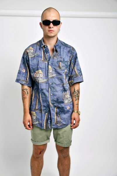 vintage palm printed shirt