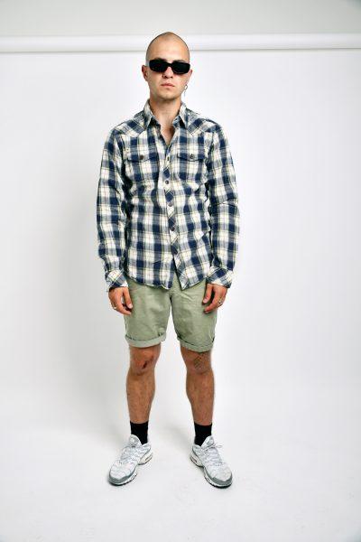 shirt vintage plaid cotton