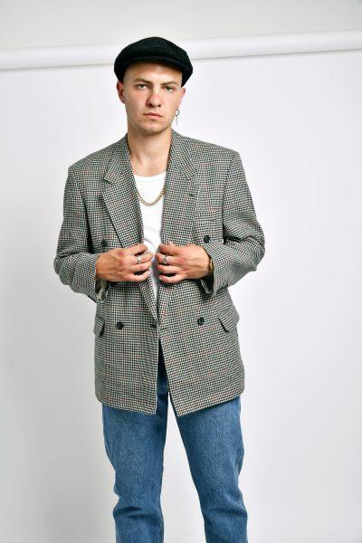 Vintage 80s Houndstooth blazer