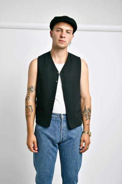 Vintage classic vest black