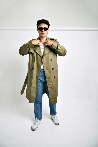 Vintage trench coat khaki
