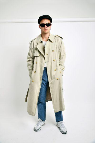 vintage detective trench coat
