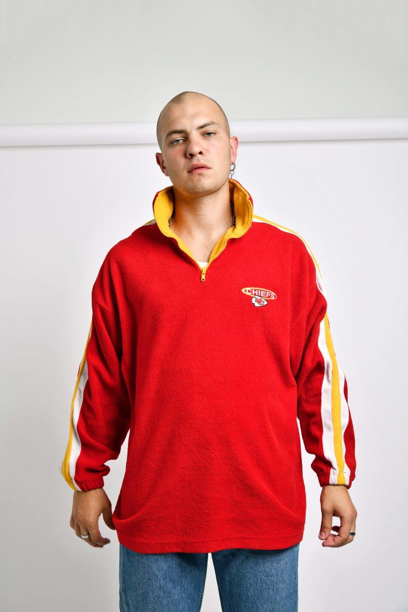 Retro warm fleece red jacket