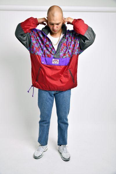 80s windbreaker summer jacket