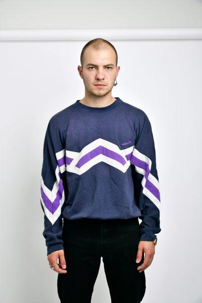 Adidas blue sweatshirt vintage