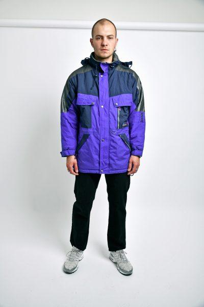 Retro wear coat blue