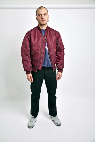 Reversible bomber jacket MA1