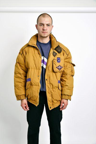 80s bomber puffer jacket