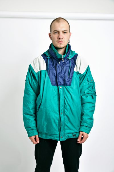 Vintage ski jacket green