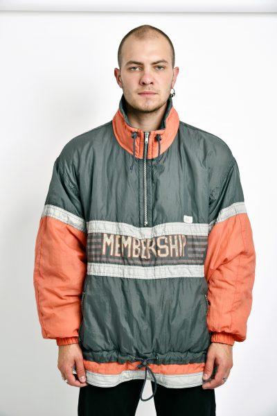 vintage ski jacket grey