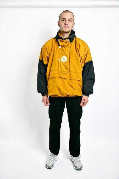Retro ski hooded coat