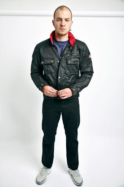 Vintage armor motorcycle jacket