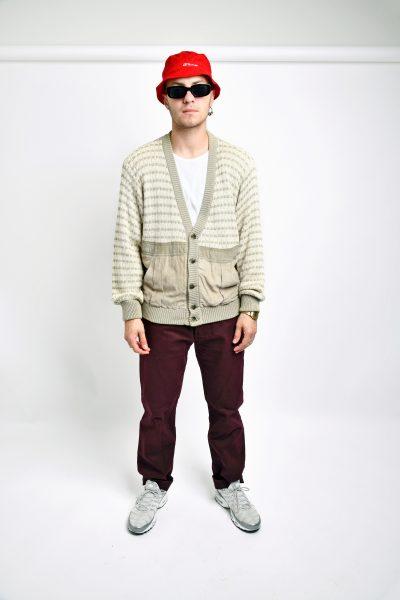 Cardigan 80s sweater beige