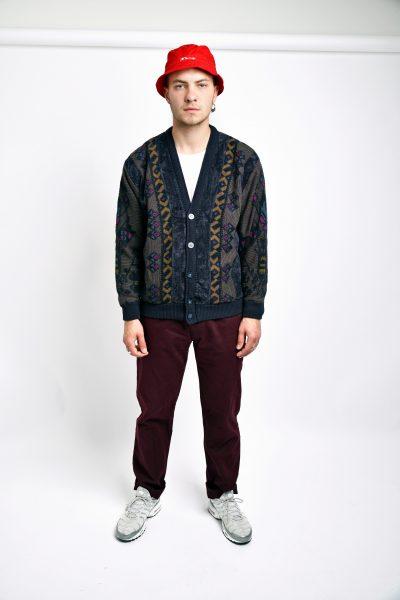 80s cardigan sweater multi