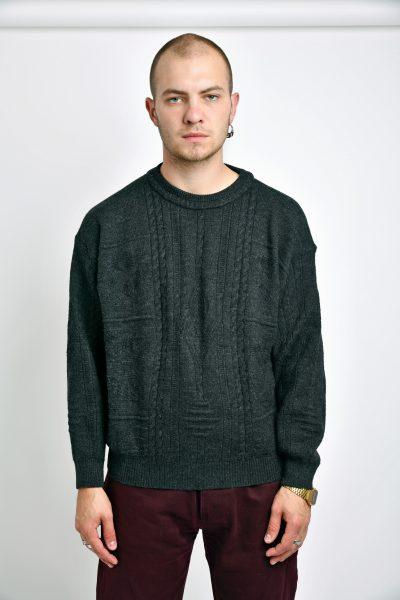Vintage grey sweater mens
