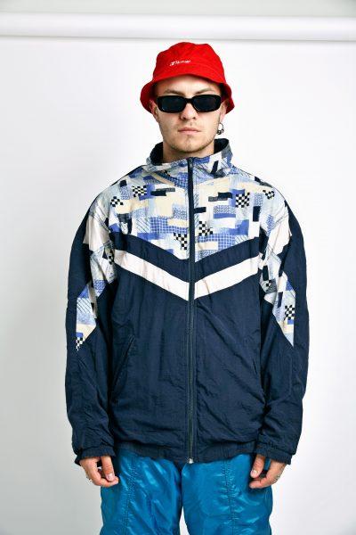 Vintage jacket 80s blue