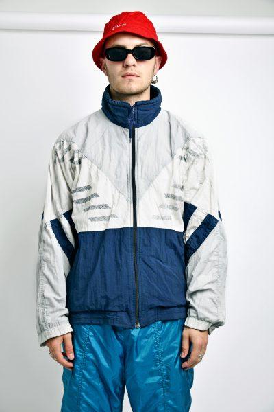 Vintage jacket navy grey